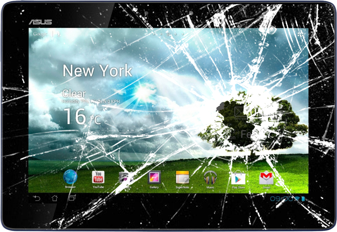 how to fix a cracked tablet screen for free